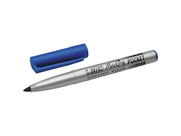 Viltstift Bic 1445 pocket rond blauw 1.1mm