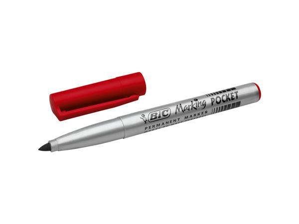 Viltstift Bic 1445 pocket rond rood 1.1mm