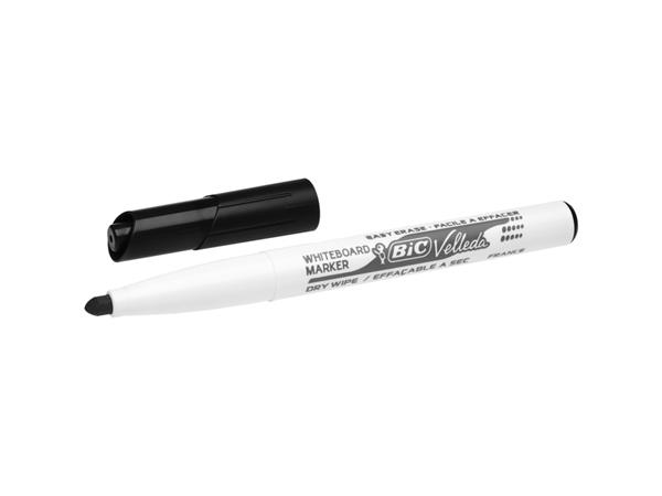 Viltstift Bic 1741 whiteboard rond zwart 1.4mm