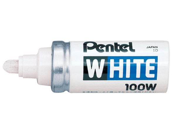 VILTSTIFT PENTEL 100W LAK ROND 4MM WIT