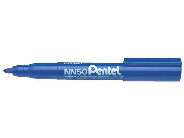 Viltstift Pentel NN50 rond blauw 1.5-3mm
