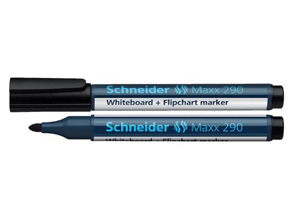 Viltstift Schneider 290 whiteboard rond zwart 2-3mm