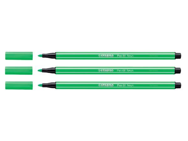 Viltstift Stabilo 68/033 neon groen