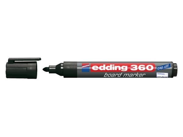 Viltstift edding 360 whiteboard rond zwart 3mm