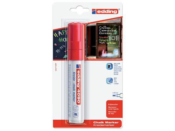 KRIJTSTIFT EDDING 4090 WINDOW BLOK 4-15MM ROOD