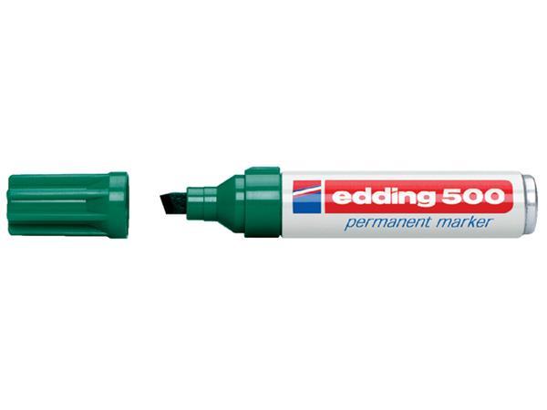 Viltstift edding 500 schuin groen 2-7mm