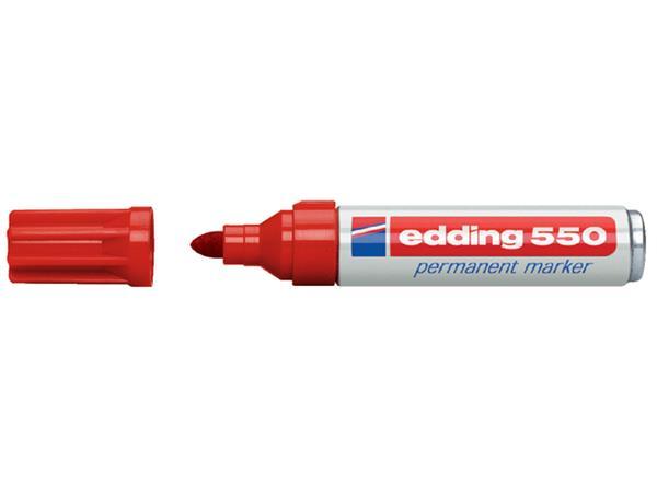 Viltstift edding 550 rond rood 3-4mm