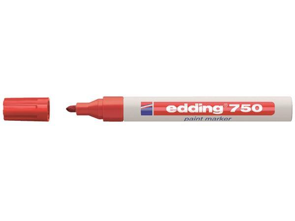 VILTSTIFT EDDING 750 LAK ROND 2-4MM ROOD