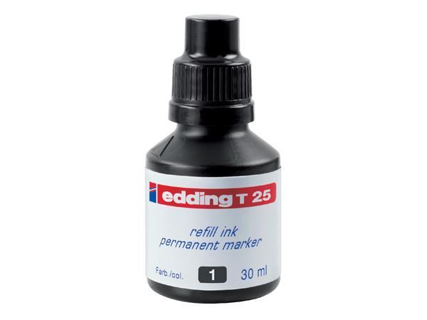 Viltstiftinkt edding T25 zwart