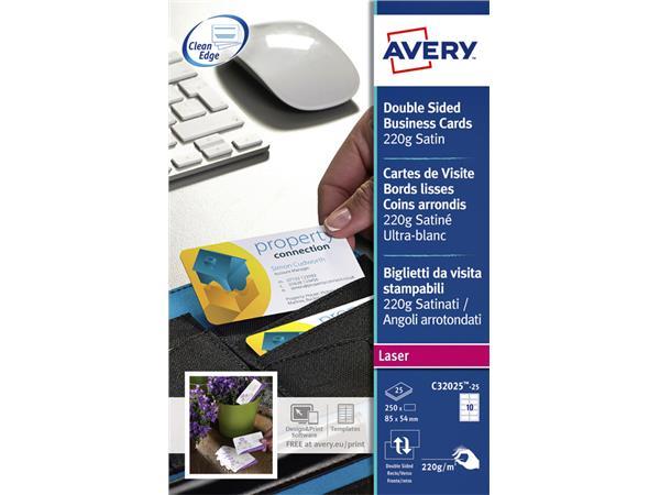 Visitekaart Avery C32025-25 85x54mm 220gr 250stuks