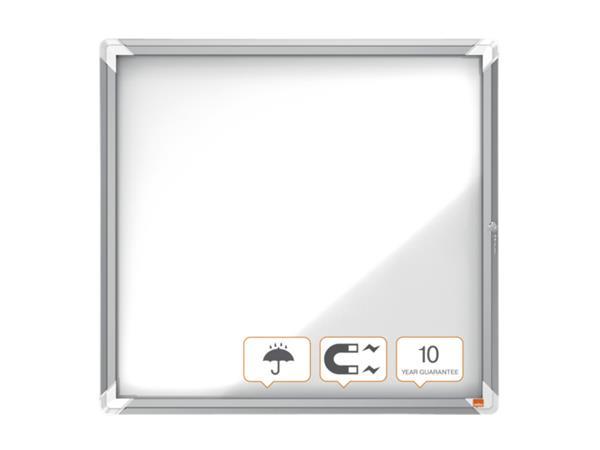 Vitrinekast Nobo draaideur voor buiten 6x A4 magnetisch