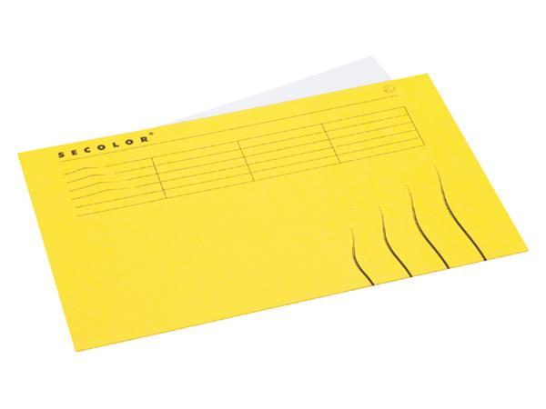 Vouwmap Jalema Secolor Folio gelijk geel