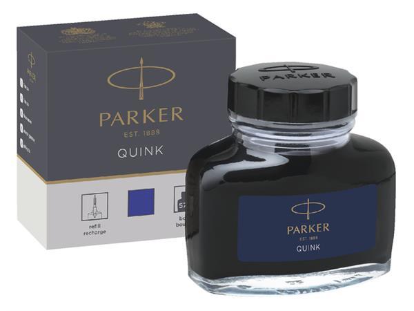 Vulpeninkt Parker Quink permanent 57ml blauw