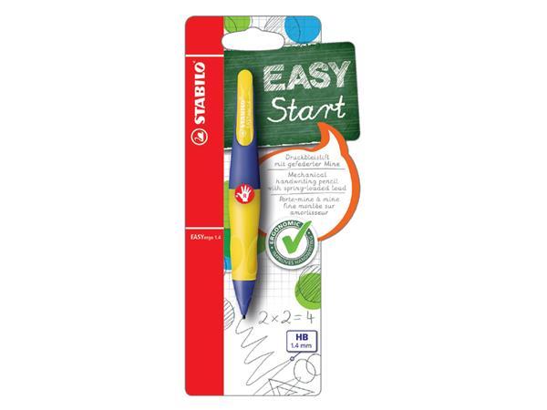 Vulpotlood STABILO Easyergo 1.4mm rechtshandig paars/neon geel blister