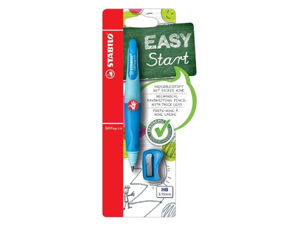 Vulpotlood STABILO Easyergo 3.15mm rechtshandig blauw/donkerblauw blister