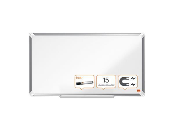 Whiteboard Nobo Premium Plus Widescreen 40x71cm staal