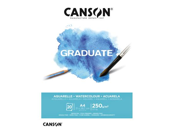Aquarelblok Canson A4 300gr 10vel