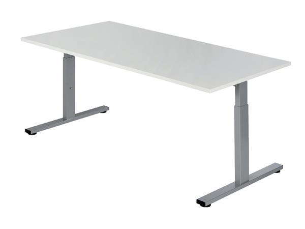 Bureau NPO Pro-Fit instelbaar 120x80cm alu frame wit blad