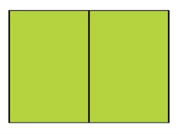 Correspondentiekaart dubbel A6 appel groen