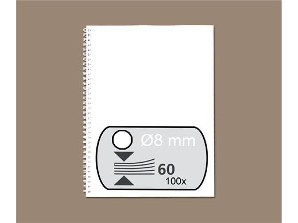 DRAADRUG GBC 8MM 34RINGS A4 WIT