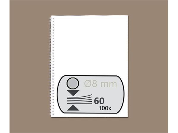 DRAADRUG GBC 8MM 34RINGS A4 ZILVER