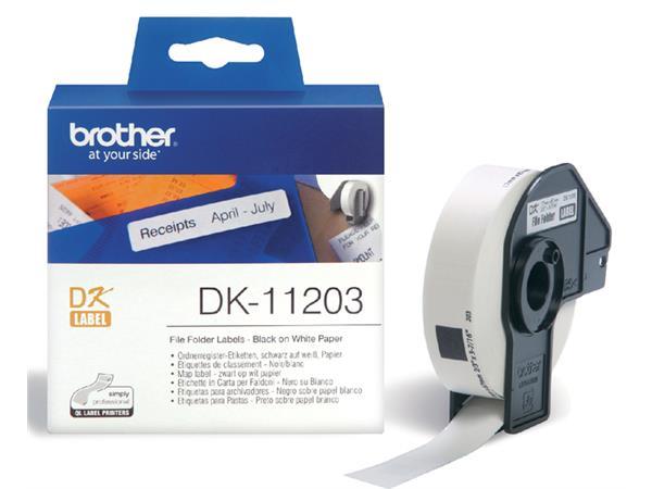 LABEL ETIKET BROTHER DK-11203 17MMX87MM WIT