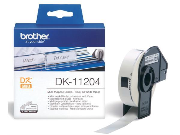 LABEL ETIKET BROTHER DK-11204 17MMX54MM WIT