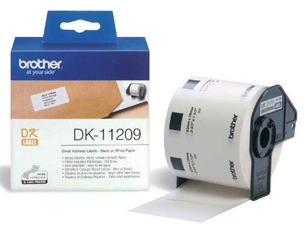 LABEL ETIKET BROTHER DK-11209 29MMX62MM ADRES WIT
