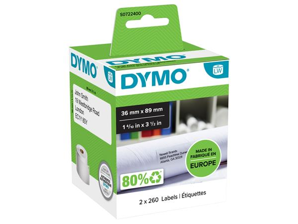 LABEL ETIKET DYMO 99012 36MMX89MM ADRES
