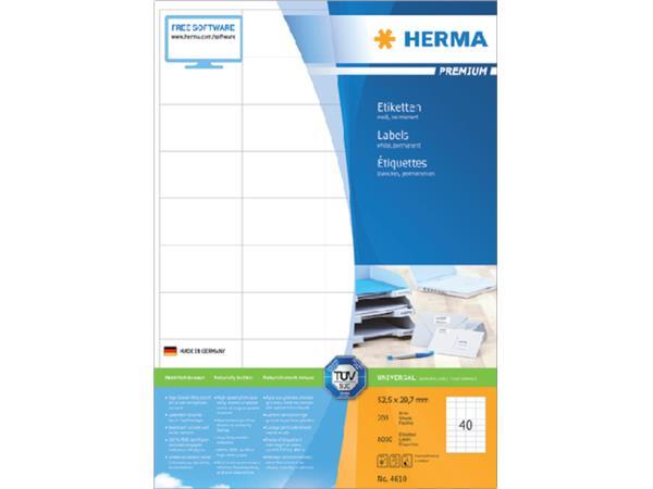 Etiket Herma 4610 52.5x29.7mm premium wit 8000stuks