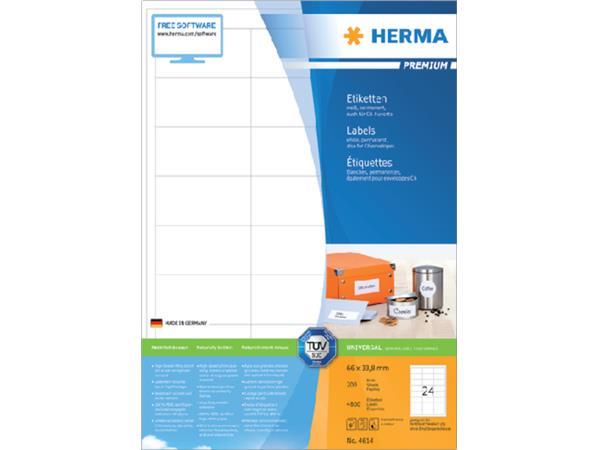ETIKET HERMA 4614 66X33.8MM PREMIUM A4 4800ST