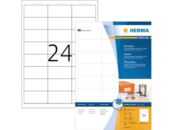 ETIKET HERMA INKPRINT 4814 66X33.8MM 2400ST