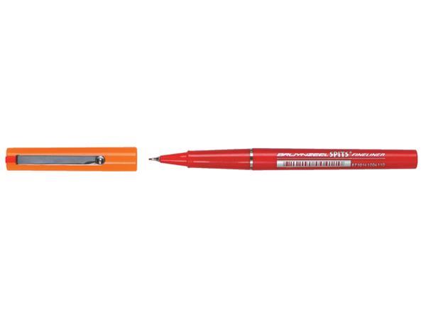 Fineliner Bruynzeel spits rood 0.4mm