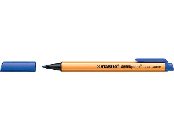 VILTSTIFT STABILO GREENPOINT ROND 0.8MM 6088/41 BL