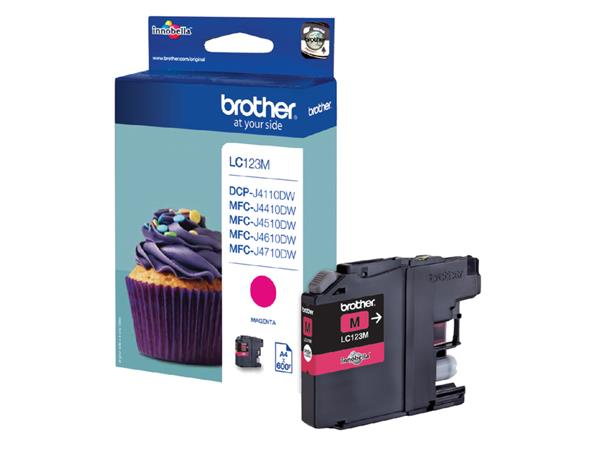 Inkcartridge Brother LC-123M rood