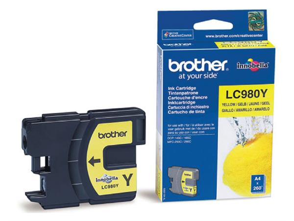 INKCARTRIDGE BROTHER LC-980 GEEL