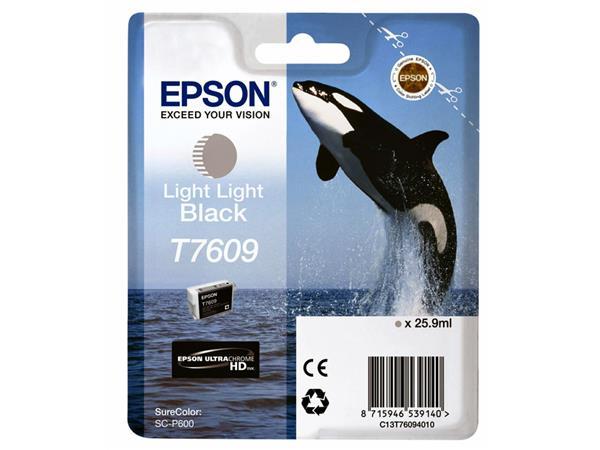 Inkcartridge Epson T7609 licht lichtzwart