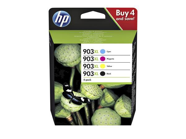 Inkcartridge HP 3HZ51AE 903XL zwart + 3 kleuren HC