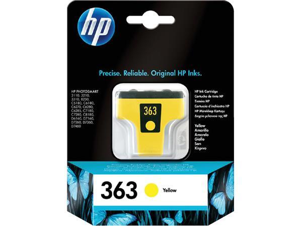 INKCARTRIDGE HP 363 C8773EE GEEL