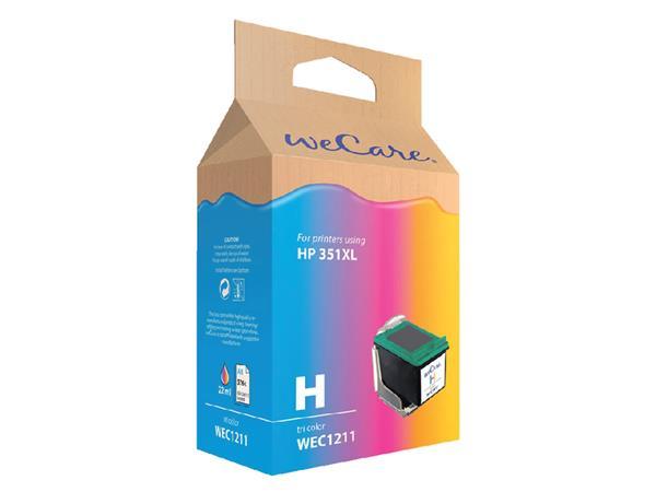 Inkcartridge Wecare HP CB338EE 351XL kleur HC