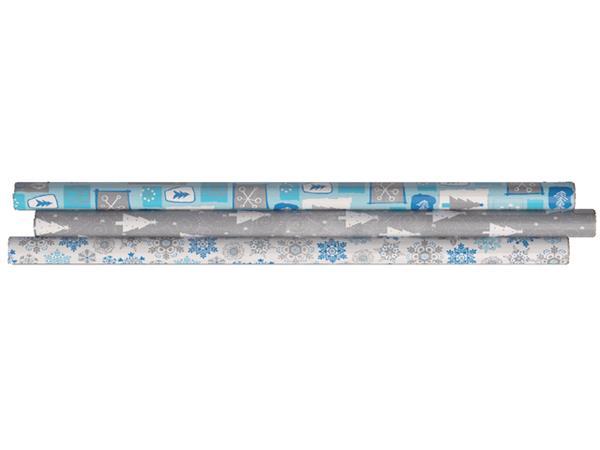Inpakpapier Hoomark 200x70cm brilliance assorti
