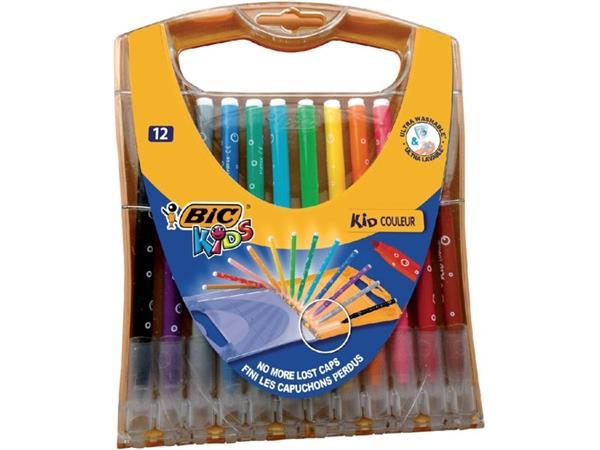 Kleurstift Bickids rainbow non-permanent ass set à 12