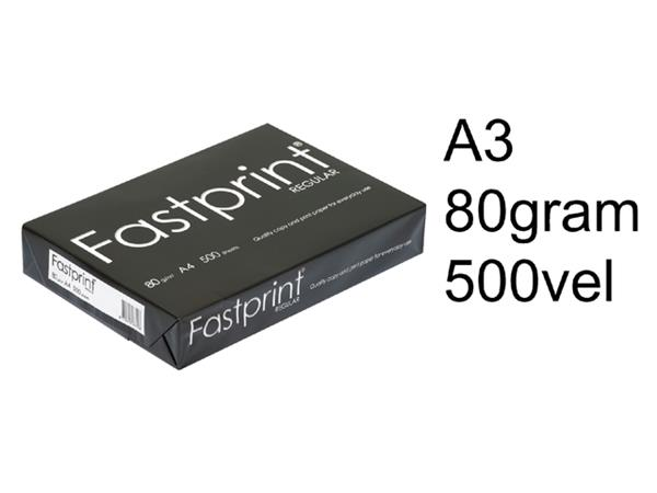 KOPIEERPAPIER FASTPRINT REGULAR A3 80GR WIT