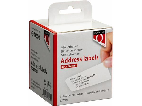 LABEL+ETIKET+QUANTORE+99012+89MMX36MM+ADRES+WIT