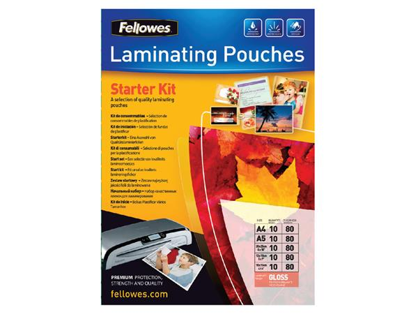 Lamineerhoes Fellowes startpakket 2x80micron 50delig