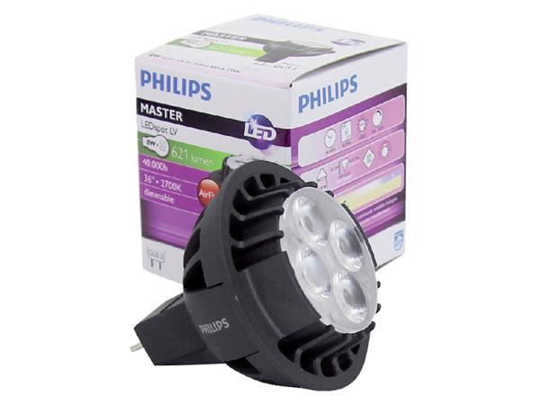 Ledlamp Philips Master LEDspot GU5.3 8W=50W 80 Lumen 827