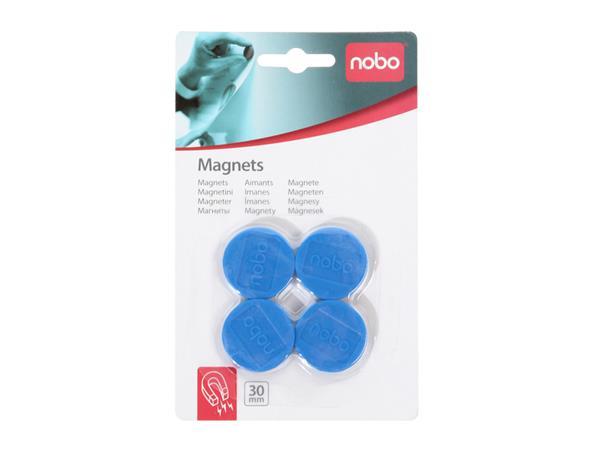 Magneet Nobo 30mm 700gr blauw