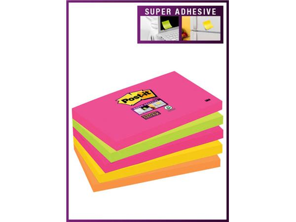 MEMOBLOK 3M POST-IT 655SN 76X127MM STICKY NEON RB