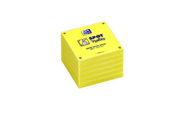 Memoblok Oxford Spot Notes 75x75mm geel