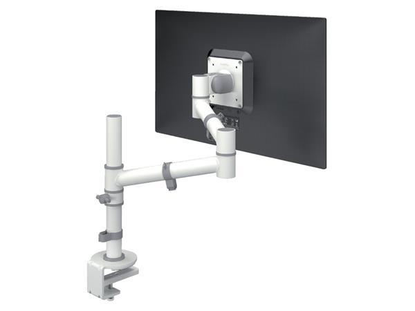 monitorarm Dataflex Viewgo 120 met bureauklem wit